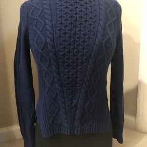 Navy Blue Banana Republic Cable Knit Sweater